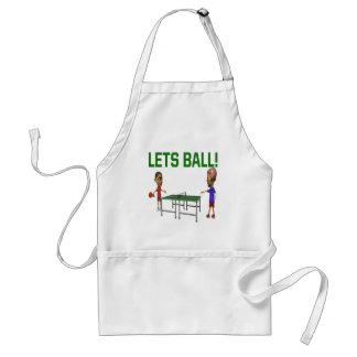 Lets Ball Adult Apron