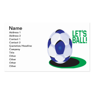 Lets Ball Double-Sided Standard Business Cards (Pack Of 100)