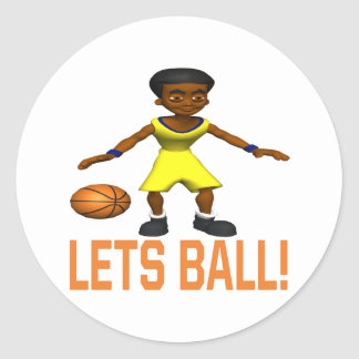 Lets Ball Classic Round Sticker