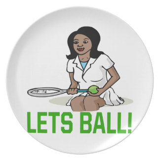 Lets Ball Melamine Plate