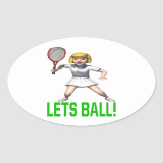 Lets Ball Oval Sticker