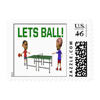 Lets Ball Postage Stamp