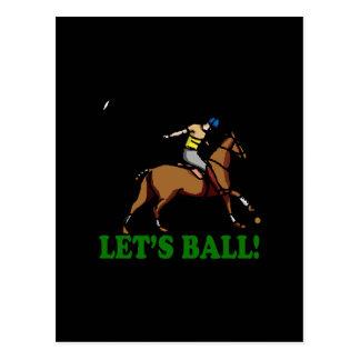 Lets Ball Postcard