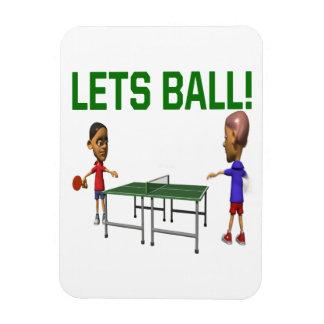 Lets Ball Rectangular Photo Magnet