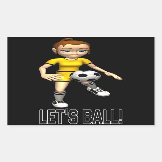 Lets Ball Rectangular Sticker