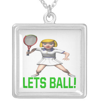 Lets Ball Silver Plated Necklace