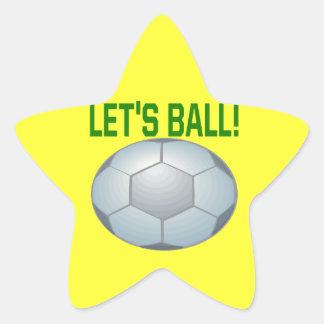 Lets Ball Star Sticker