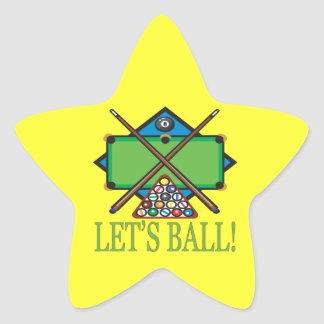 Lets Ball Star Sticker