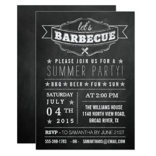 summer bbq invitations zazzle