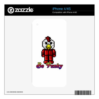 Lets be a Funky Chicken iPhone 4S Decal
