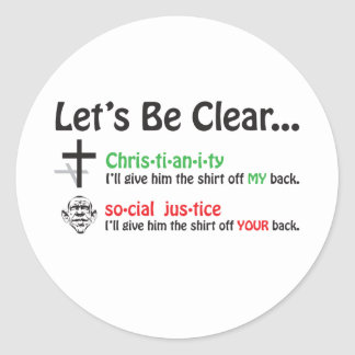 Let's Be Clear Classic Round Sticker