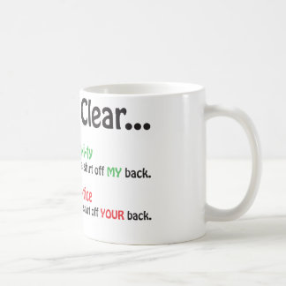 Let's Be Clear Coffee Mug