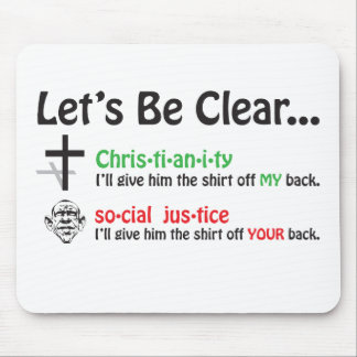 Let's Be Clear Mouse Pad