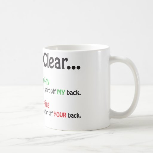 Let's Be Clear Mug