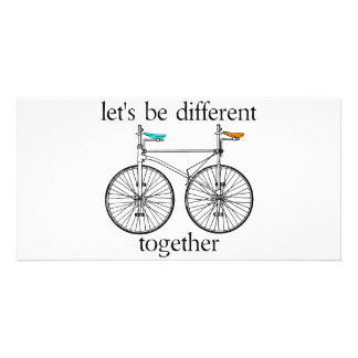 Let's Be Different Together Photo Card