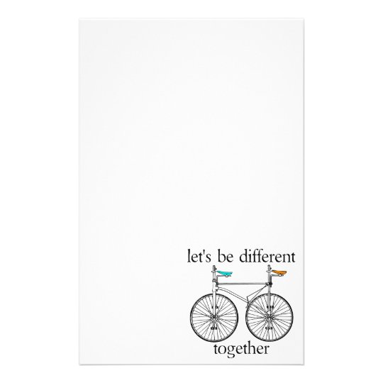 Let's Be Different Together Stationery