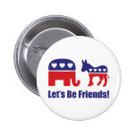 Let's Be Friends! 2 Inch Round Button