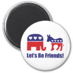 Let's Be Friends! 2 Inch Round Magnet