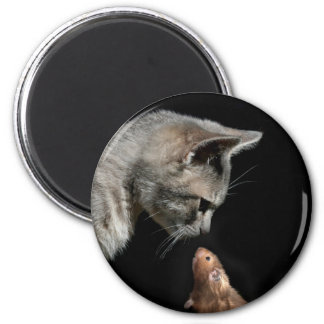 Let's be friends 2 inch round magnet