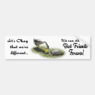 Let's Be Friends Bumper Sticker