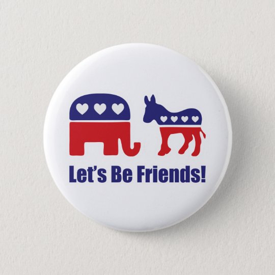 Let's Be Friends! Button