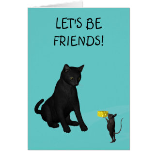 let's be friends! card