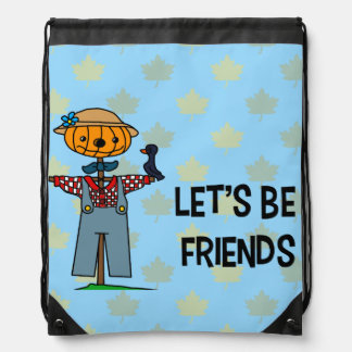 Let's Be Friends Drawstring Backpack