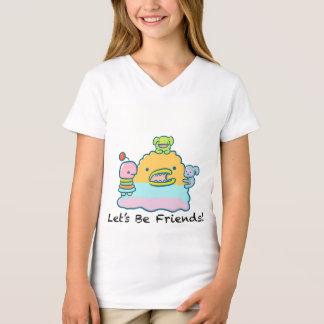 Let's Be Friends Girls' Fine Jersey V-Neck T-Shirt