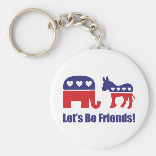 Let's Be Friends! Keychain