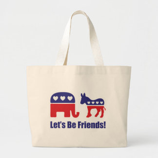 Let's Be Friends! Large Tote Bag