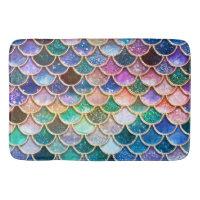 Let's be mermaids- Mermaid Glitter- Mermaid Scales Bathroom Mat