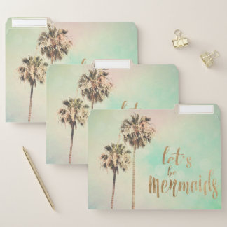 Let's Be Mermaids with Pineapple File Folder
