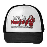 Let's be Naughty and Save Santa the Trip Mesh Hat