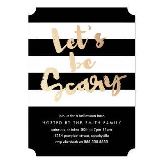 Let's be Scary 5x7 Paper Invitation Card