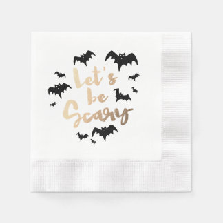 Let's Be Scary Coined Cocktail Napkin