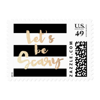 Let's be Scary Postage Stamp