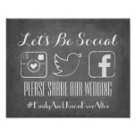 Let's Be Social | Hashtag Sign Poster