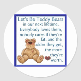 Let's Be Teddy Bears Classic Round Sticker