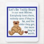 Let's Be Teddy Bears Mouse Mat