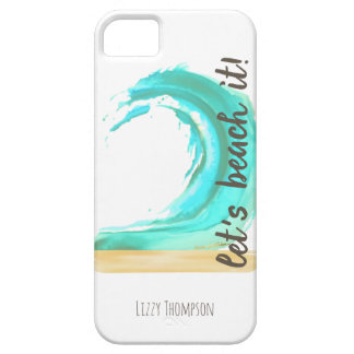 Let's Beach It Case-Mate Barely There iPhone SE +