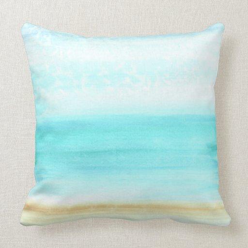 Throw Pillows 20 X 20 : Let s Beach It! Cotton, Throw Pillow 20