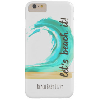 Let's Beach It iPhone 6/6s Plus, Barely There Phon Barely There iPhone 6 Plus Case