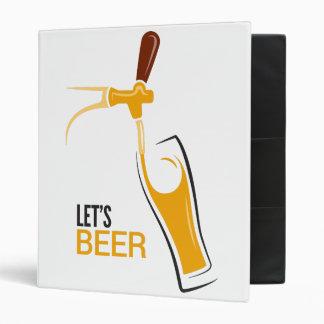 Let's Beer 3 Ring Binder