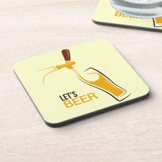 Let's Beer Beverage Coasters