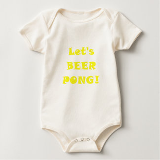 Lets Beer Pong Baby Bodysuit
