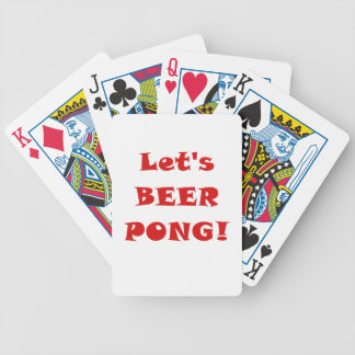 Lets Beer Pong Bicycle Playing Cards