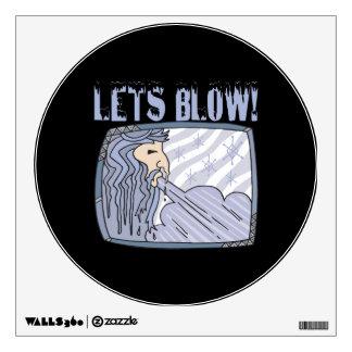 Lets Blow Room Sticker