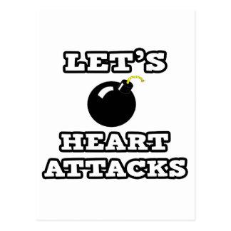 Let's Bomb Heart Attacks Postcard