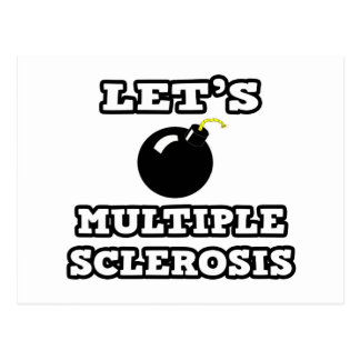 Let's Bomb Multiple Sclerosis Postcard