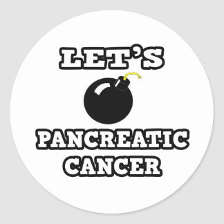 Let's Bomb Pancreatic Cancer Classic Round Sticker